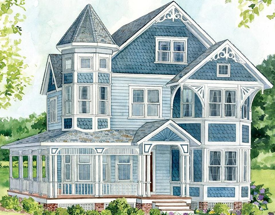 Queen Anne - Architectural Styles - Vinyl Siding - VSI on french eclectic home plans, gothic cottage home plans, quad level home plans, queen anne floor plans, greek revival home plans, eastlake home plans, one-bedroom cottage home plans, clayton home plans, edgewood home plans, queen anne cottage plans, saltbox home plans, creole cottage home plans, rustic home plans, back split home plans, modernist home plans, queen anne building plans, french second empire home plans, cordova home plans, washington home plans, tudor house plans,