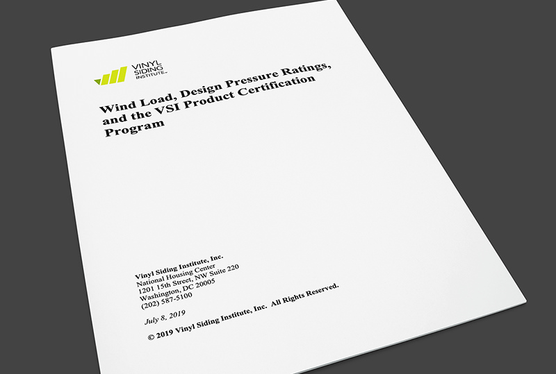 Wind Load And Vsi Product Certification Program Vinyl